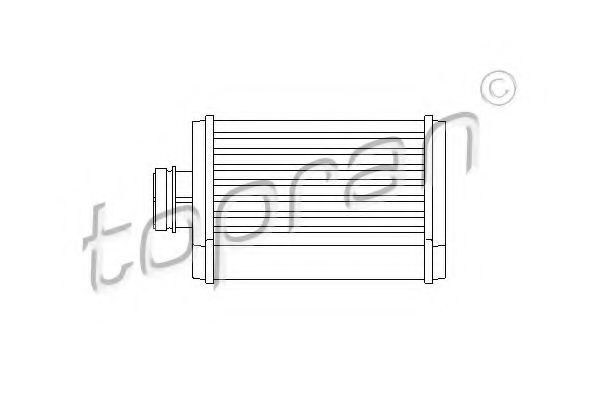 Радиатор отопителя салона HANS PRIES/TOPRAN 109 979