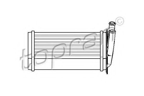 Радиатор отопителя салона HANS PRIES/TOPRAN 110 180