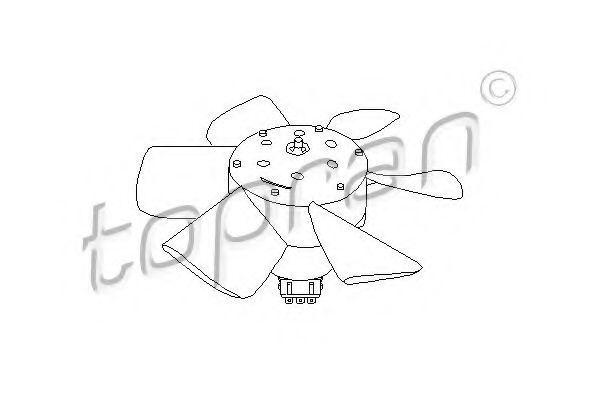 Вентилятор радиатора HANS PRIES/TOPRAN 102548