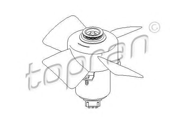 Вентилятор охлаждения двигателя HANS PRIES/TOPRAN 107708