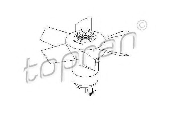 Вентилятор радиатора охлаждения HANS PRIES/TOPRAN 107721