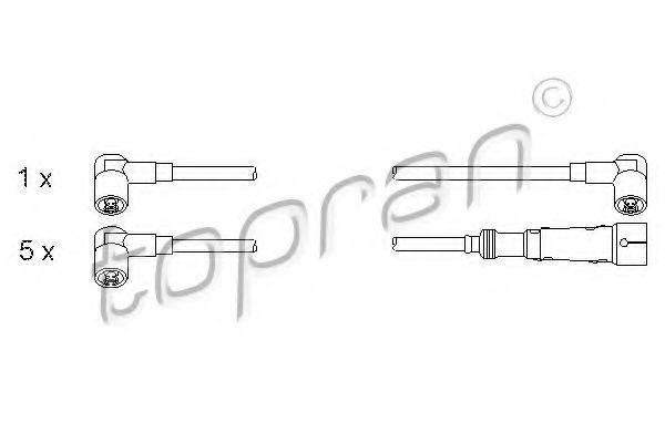 Провода высоковольтные комплект HANS PRIES/TOPRAN 100688