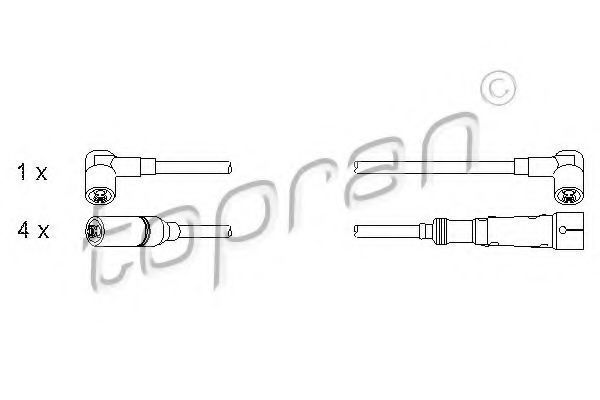 Провода высоковольтные комплект HANS PRIES/TOPRAN 102 982