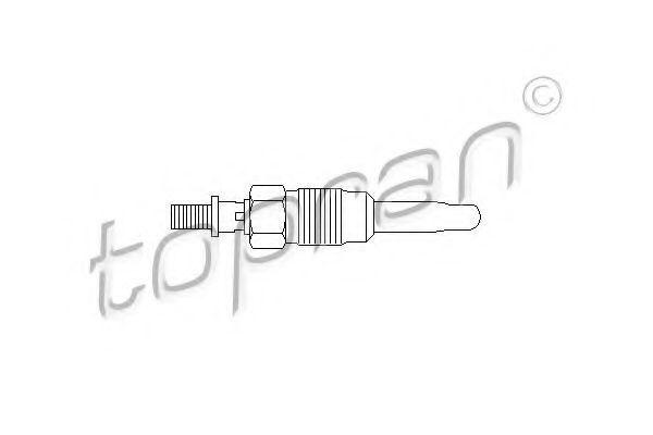 Свеча накаливания HANS PRIES/TOPRAN 107117