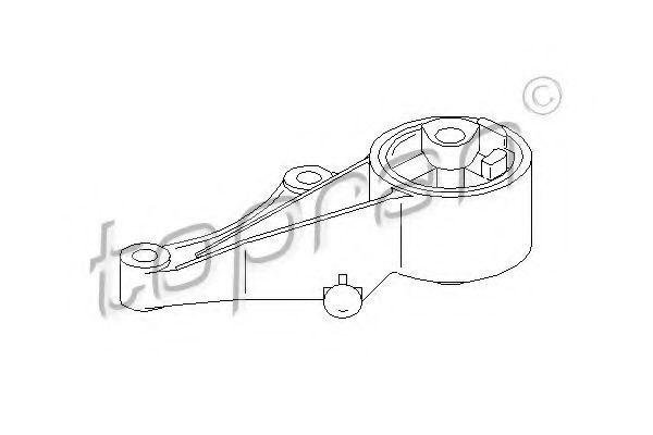 Опора двигателя HANS PRIES/TOPRAN 206 161