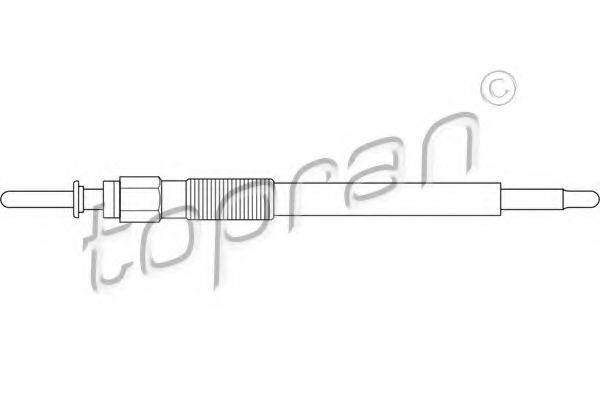 Свеча накаливания HANS PRIES/TOPRAN 206 655