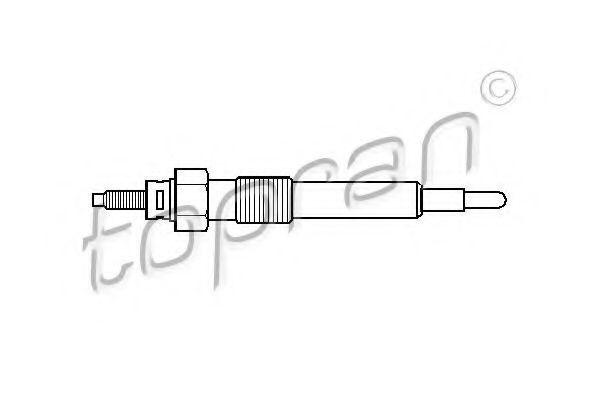 Свеча накаливания HANS PRIES/TOPRAN 205 667