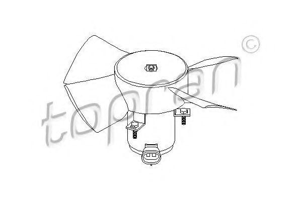 Вентилятор радиатора охлаждения HANS PRIES/TOPRAN 202362