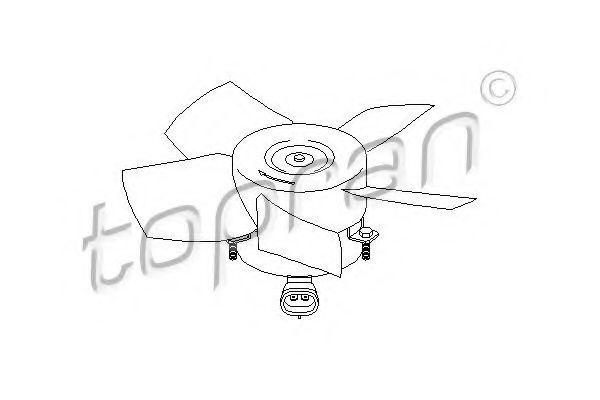 Вентилятор охлаждения двигателя HANS PRIES/TOPRAN 206947