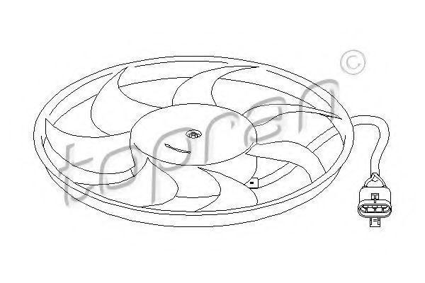 Вентилятор охлаждения двигателя HANS PRIES/TOPRAN 207210