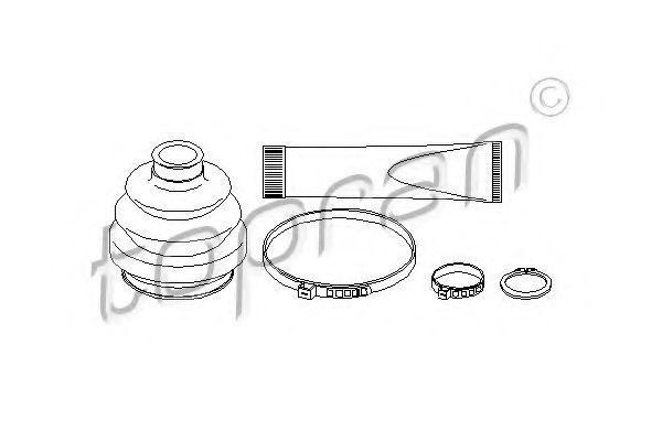 Пыльник ШРУС наружный комплект HANS PRIES/TOPRAN 202436