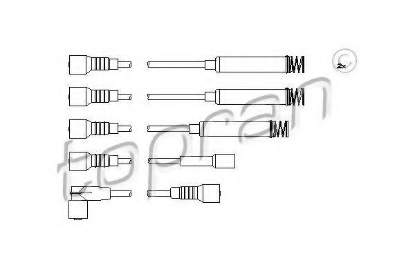 Провод высоковольтный HANS PRIES/TOPRAN 202 519