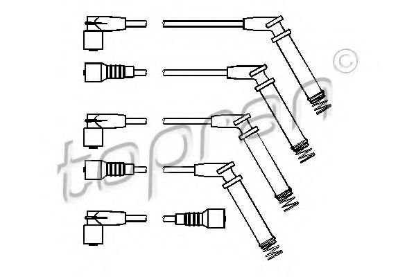 Провода высоковольтные комплект HANS PRIES/TOPRAN 202527