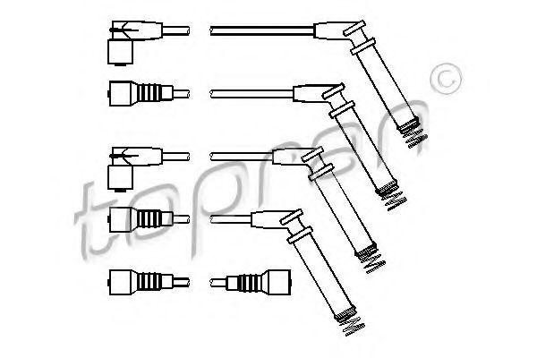 Провода высоковольтные комплект HANS PRIES/TOPRAN 202529