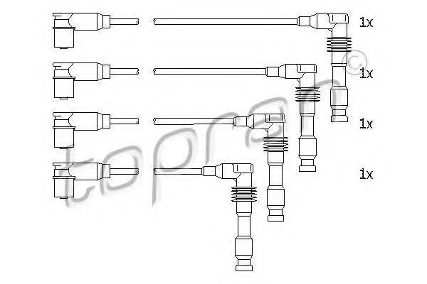 Провода высоковольтные комплект HANS PRIES/TOPRAN 206 242