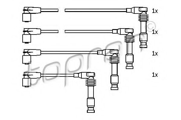 Провода высоковольтные комплект HANS PRIES/TOPRAN 205 104
