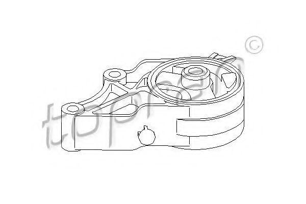 Опора двигателя HANS PRIES/TOPRAN 206 577