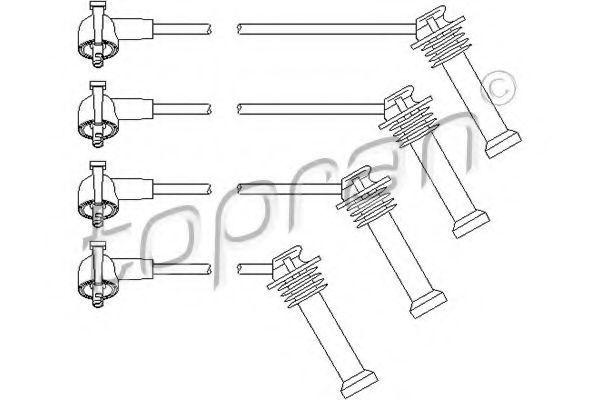 Провода высоковольтные комплект HANS PRIES/TOPRAN 300 703