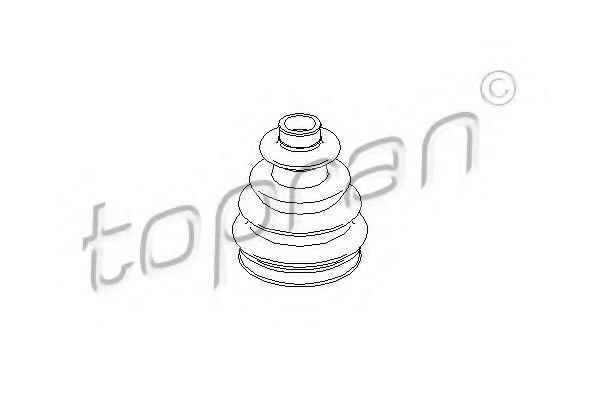 Пыльник ШРУС внешний HANS PRIES/TOPRAN 300300