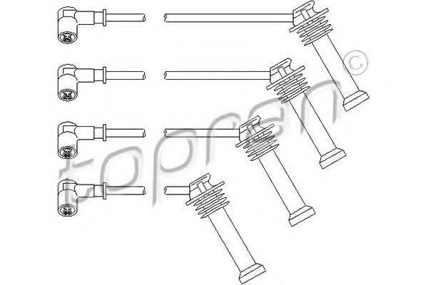 Провода высоковольтные комплект HANS PRIES/TOPRAN 302 043