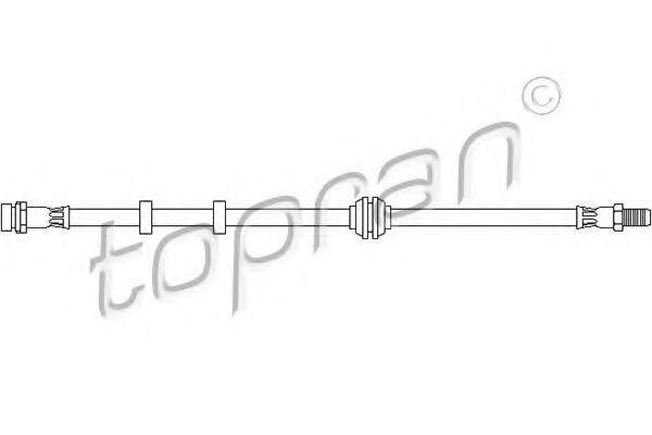 Шланг тормозной передний HANS PRIES/TOPRAN 301058
