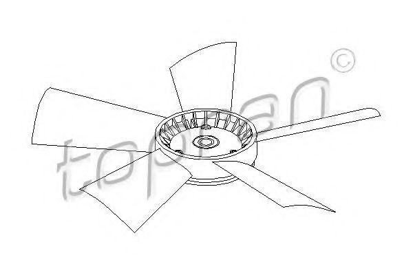 Крыльчатка вентилятора радиатора HANS PRIES/TOPRAN 401 191
