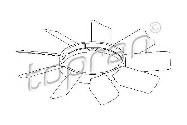 Крыльчатка вентилятора HANS PRIES/TOPRAN 400995