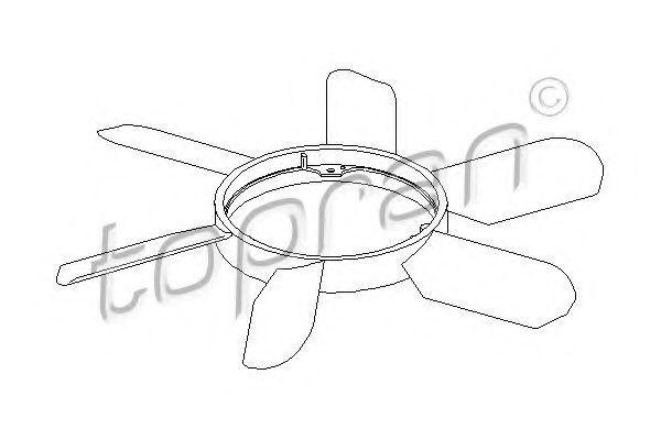Крыльчатка вентилятора охлаждения двигателя HANS PRIES/TOPRAN 400 996