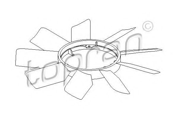 Крыльчатка вентилятора охлаждения двигателя HANS PRIES/TOPRAN 400 997
