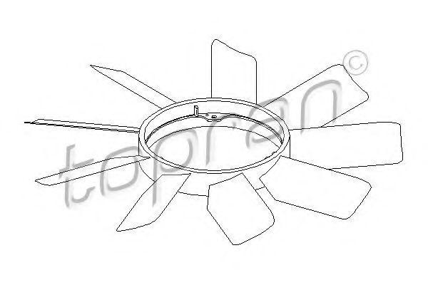 Крыльчатка вентилятора HANS PRIES/TOPRAN 401 467