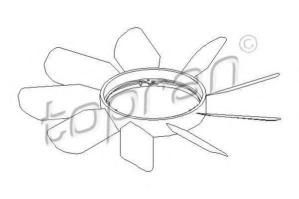 Вентилятор радиатора HANS PRIES/TOPRAN 400998