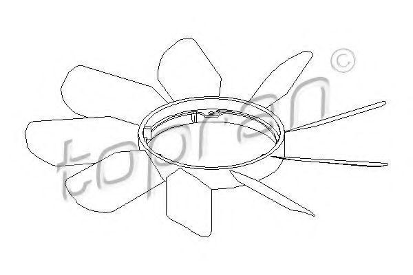 Крыльчатка вентилятора охлаждения двигателя HANS PRIES/TOPRAN 400 999