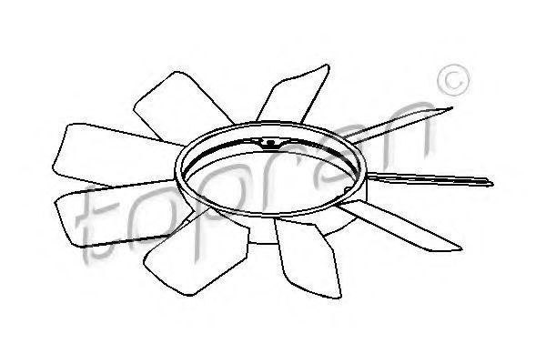 Крыльчатка вентилятора охлаждения двигателя HANS PRIES/TOPRAN 401 000