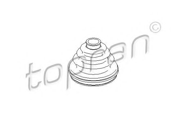 Пыльник ШРУС HANS PRIES/TOPRAN 400 728