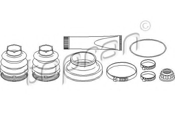 Комплект пылника, приводной вал HANS PRIES/TOPRAN 401875