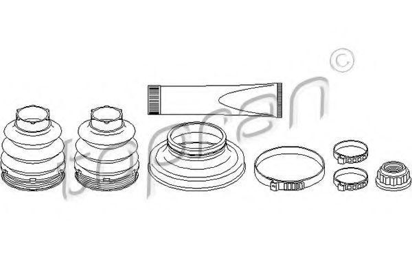 Комплект пылника, приводной вал HANS PRIES/TOPRAN 401874