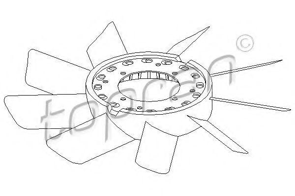 Крыльчатка вентилятора HANS PRIES/TOPRAN 500899