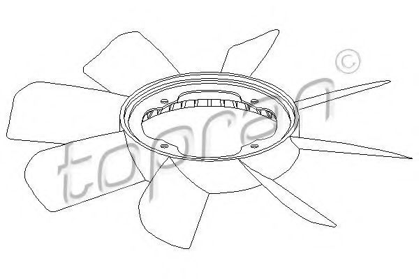 Крыльчатка вентилятора охлаждения двигателя HANS PRIES/TOPRAN 500902