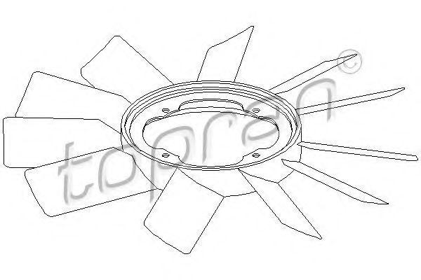 Крыльчатка вентилятора HANS PRIES/TOPRAN 500903