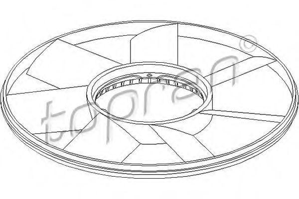 Крыльчатка вентилятора охлаждения двигателя HANS PRIES/TOPRAN 500 904