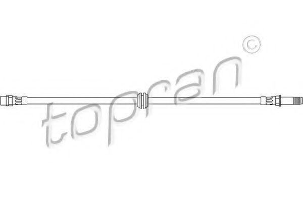 Шланг тормозной HANS PRIES/TOPRAN 500 756