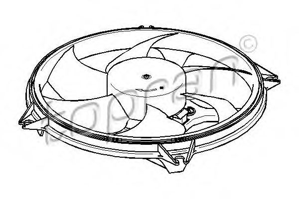 Вентилятор охлаждения двигателя HANS PRIES/TOPRAN 721 538