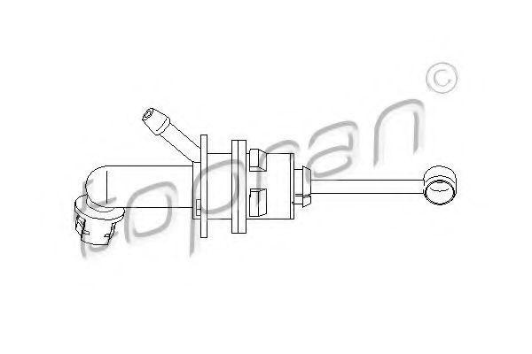 Главный цилиндр, система сцепления HANS PRIES/TOPRAN 721490