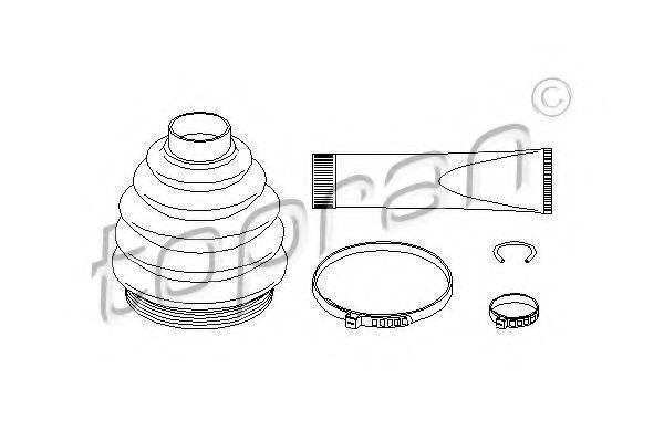 Комплект пылника, приводной вал HANS PRIES/TOPRAN 721199