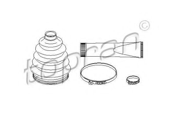 Комплект пылника, приводной вал HANS PRIES/TOPRAN 722475