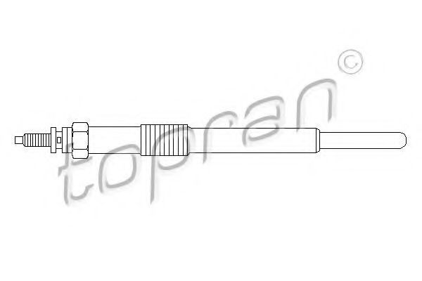 Свеча накаливания HANS PRIES/TOPRAN 721 402
