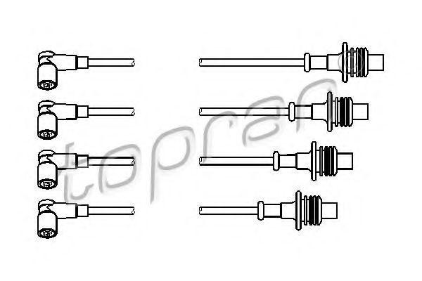 Провода высоковольтные комплект HANS PRIES/TOPRAN 722801