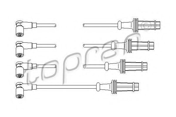 Провода высоковольтные комплект HANS PRIES/TOPRAN 721 506