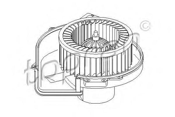 Мотор обогревателя салона HANS PRIES/TOPRAN 111981