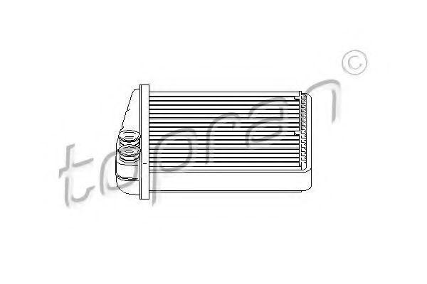 Радиатор отопителя салона HANS PRIES/TOPRAN 112 416